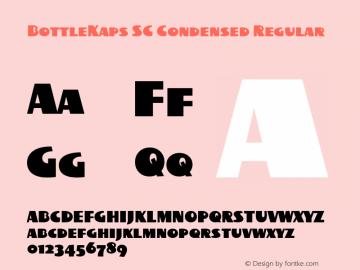 BottleKaps SC Condensed Regular Altsys Fontographer 4.1 10.3.1995 Font Sample