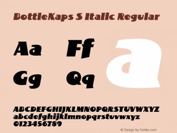 BottleKaps S Italic Regular Altsys Fontographer 4.1 10.3.1995 Font Sample