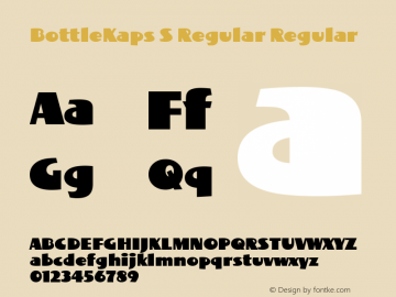 BottleKaps S Regular Regular Altsys Fontographer 4.1 10.3.1995 Font Sample