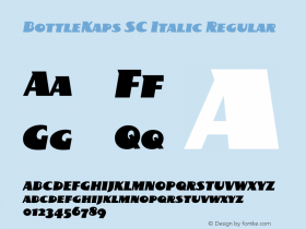 BottleKaps SC Italic Regular Altsys Fontographer 4.1 10.3.1995 Font Sample