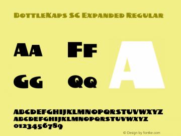 BottleKaps SC Expanded Regular Altsys Fontographer 4.1 10.3.1995 Font Sample