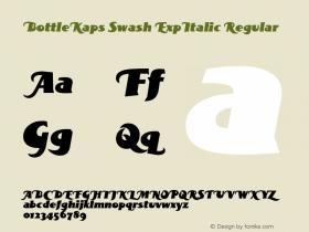 BottleKaps Swash ExpItalic Regular Altsys Fontographer 4.1 10.3.1995 Font Sample