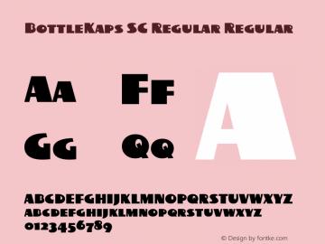 BottleKaps SC Regular Regular Altsys Fontographer 4.1 10.3.1995 Font Sample