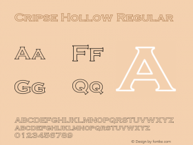 Cripse Hollow Regular Converted from D:\FINIS\cris1603.HF1 by ALLTYPE图片样张