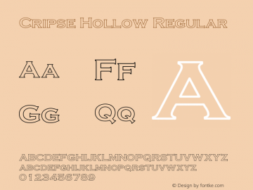 Cripse Hollow Regular Converted from D:\FINIS\cris1603.HF1 by ALLTYPE Font Sample