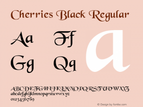 Cherries Black Regular Converted from E:\WINDOWS\POWERPAK\cherries.FF1 by ALLTYPE Font Sample