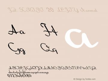 FZ SCRIPT 20 LEFTY Normal 1.000 Font Sample
