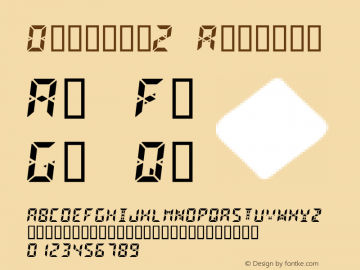 Digital2 Regular Macromedia Fontographer 4.1.4 10/3/98 Font Sample