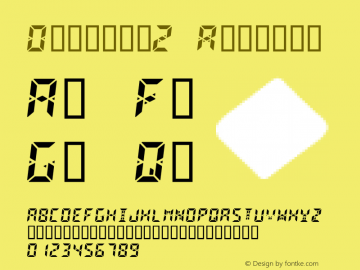Digital2 Regular Altsys Fontographer 4.0.3 22/10/95 Font Sample