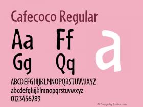 Cafecoco Regular Macromedia Fontographer 4.1.5 3/10/99 Font Sample