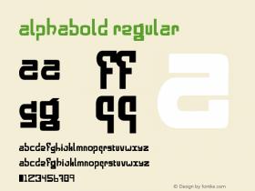 alphabold Regular Macromedia Fontographer 4.1 2/14/98 Font Sample