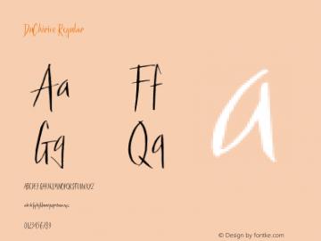 DuChirico Regular Macromedia Fontographer 4.1 3/10/00 Font Sample