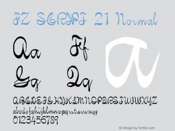 FZ SCRIPT 21 Normal 1.000 Font Sample