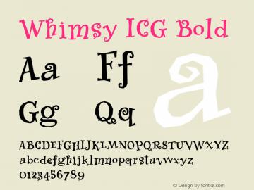 Whimsy ICG Bold Altsys Fontographer 4.1 26/09/95 Font Sample