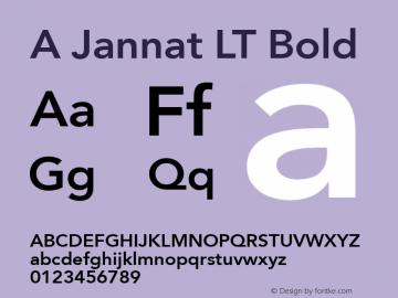 A Jannat LT Bold Version 100 July 3 2008 Initial Release Font Sample