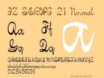 FZ SCRIPT 21 Normal 1.0 Fri Apr 22 00:16:37 1994 Font Sample