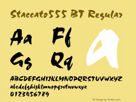 Staccato555 BT Regular mfgpctt-v1.27 Thursday, April 2, 1992 9:58:26 am (EST) Font Sample