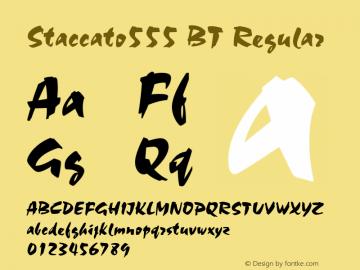 Staccato555 BT Regular mfgpctt-v1.27 Thursday, April 2, 1992 9:58:26 am (EST) Font Sample