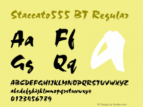 Staccato555 BT Regular mfgpctt-v1.53 Monday, February 1, 1993 3:35:40 pm (EST) Font Sample