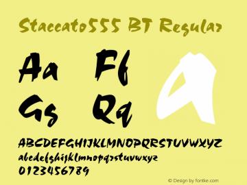 Staccato555 BT Regular mfgpctt-v1.53 Monday, February 1, 1993 3:35:40 pm (EST) Font Sample