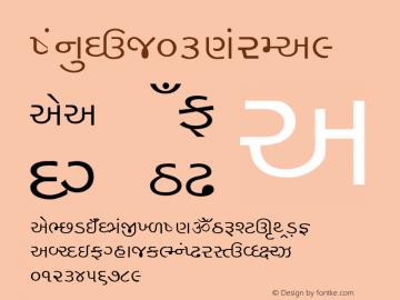 Mon_Guj03 Normal 1.0 Mon Mar 28 13:44:14 1994 Font Sample