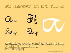 FZ SCRIPT 21 EX Normal 1.0 Fri Apr 22 00:20:21 1994 Font Sample