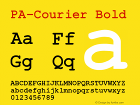 PA-Courier Bold Version 2.01 Font Sample