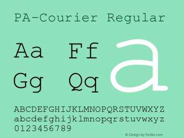 PA-Courier Regular Version 2.01 Font Sample