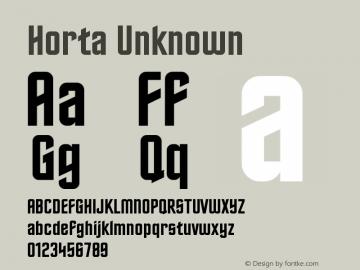Horta Unknown Version 0.3 Font Sample