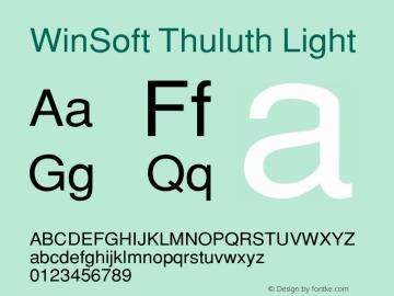 WinSoft Thuluth Light Altsys Fontographer 4.0.3 10/2/2000 Font Sample