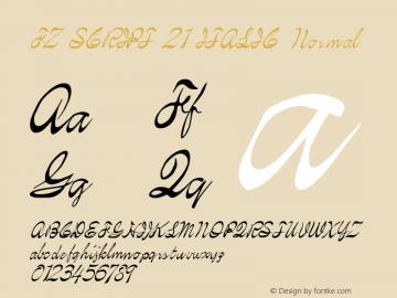 FZ SCRIPT 21 ITALIC Normal 1.000 Font Sample