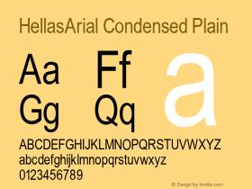 HellasArial Condensed Plain 001.000 Font Sample