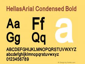 HellasArial Condensed Bold 001.000 Font Sample