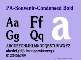 PA-Souvenir-Condensed Bold Version 2.0 - September 1993 Font Sample