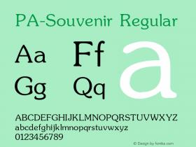 PA-Souvenir Regular Version 2.0 - September 1993 Font Sample