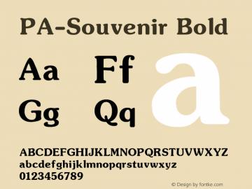 PA-Souvenir Bold Version 2.0 - September 1993 Font Sample