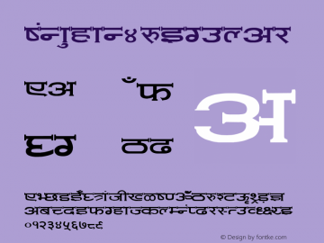 Mon_hin4 Regular Converted from C:\LBFCD\LYS_FONT\AMIT-NOR.TF1 by ALLTYPE Font Sample