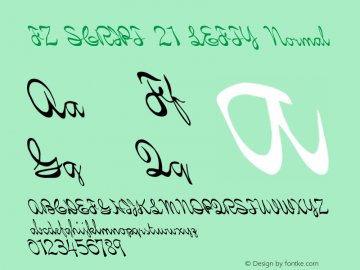 FZ SCRIPT 21 LEFTY Normal 1.0 Fri Apr 22 00:17:12 1994 Font Sample