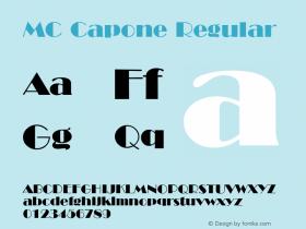 MC Capone Regular MC 1.0图片样张