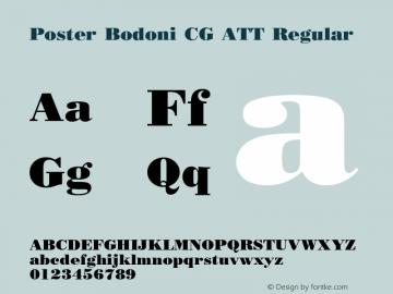 Poster Bodoni CG ATT Regular 1.0 Font Sample