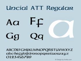 Uncial ATT Regular 1.0 Font Sample
