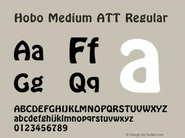 Hobo Medium ATT Regular 1.0 Font Sample