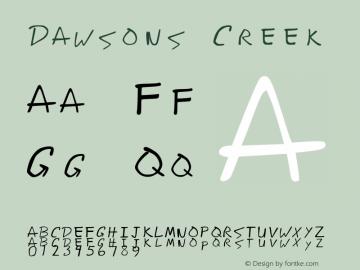 Dawsons Creek Version 1.00 Font Sample