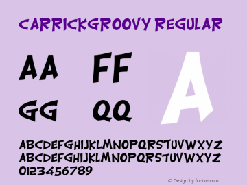 CarrickGroovy Regular Altsys Fontographer 4.0.2 11/8/93 Font Sample