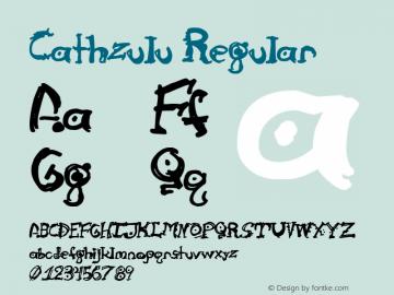 Cathzulu Regular 1.00 Font Sample