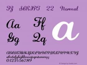 FZ SCRIPT 22 Normal 1.0 Fri Apr 22 00:12:21 1994 Font Sample