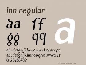 Inn Regular Macromedia Fontographer 4.1 3/11/97 Font Sample