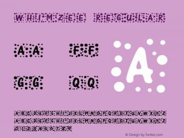Whimzee Regular Version 1.03 Font Sample