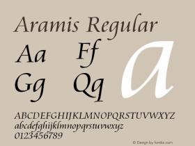 Aramis Regular Version 1.03 Font Sample