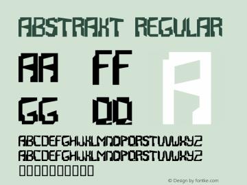 Abstrakt Regular Macromedia Fontographer 4.1.2 11/3/98 Font Sample